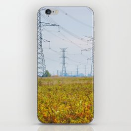 Landscape with power lines iPhone Skin