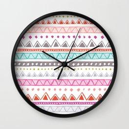 Half Full Stripe Wall Clock