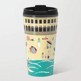 Bondi Beach Vintage Style Art Print Travel Mug