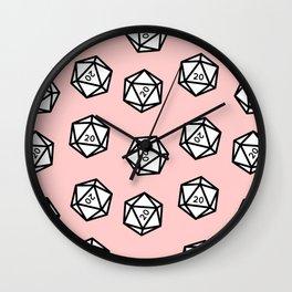 Pink Crit Wall Clock
