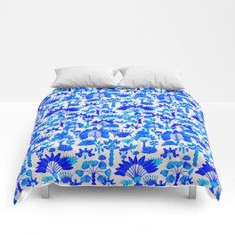 Exotic Garden Blue Comforters