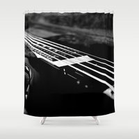 bass Shower Curtains featuring Bass  by Lia Bedell