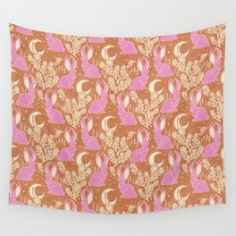 Jackalope - caramel and primrose  Wall Tapestry