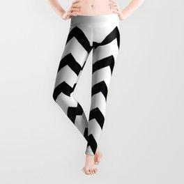 Simple Black and white Chevron pattern Leggings