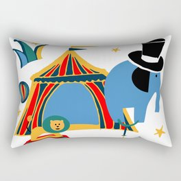 Circus Fun white Rectangular Pillow