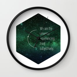 We are the universe Wall Clock