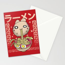 Hungry Ramen Cat / Noodles Japan Stationery Cards