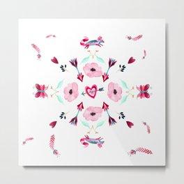 Love Mandala Metal Print