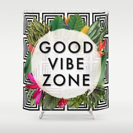 (((( Good Vibes )))) Shower Curtain