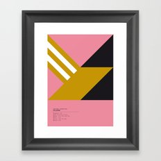 Palermo geometric logo Framed Art Print