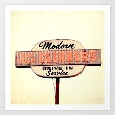 Modern Cleaners Art Print