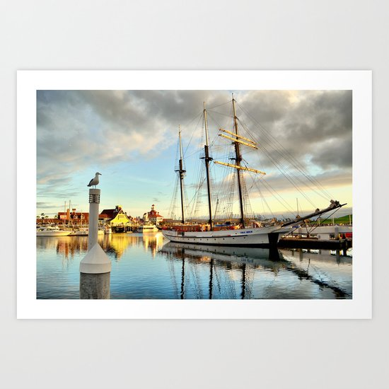 Tole Mour & Rainbow Harbor Art Print