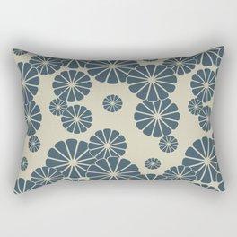 Blue Floral Japanese Pattern 2 Rectangular Pillow