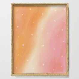Peachy Sherbet (Dreamy Abstract Art) Serving Tray