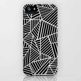 Ab Lines Black on White iPhone Case