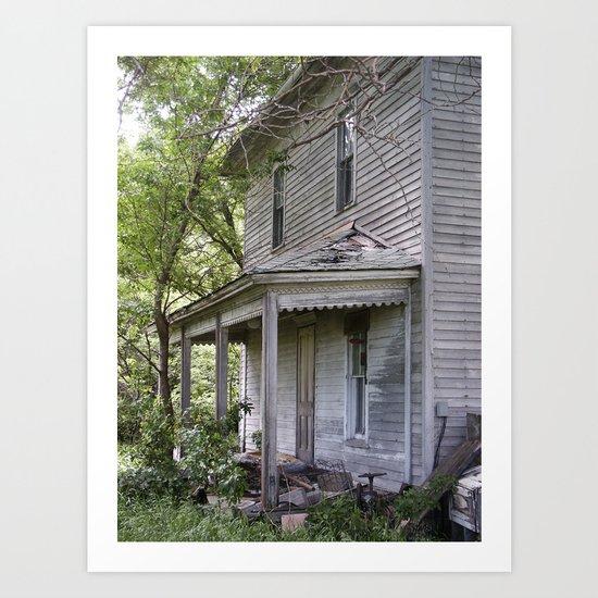 Forsaken Porch Art Print
