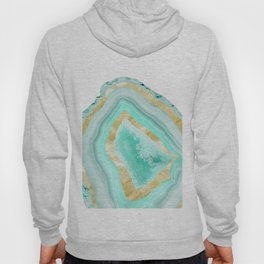 Agate Gold Foil Glam #2 #gem #decor #art #society6 Hoody