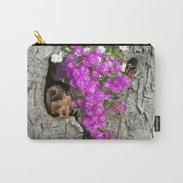 Flowering Vygies and a Squirrel in a tree Carry-All Pouch