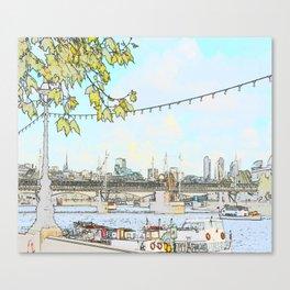 London River Scene Canvas Print