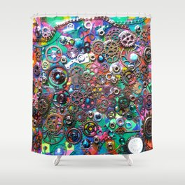 Chase the Gears Shower Curtain