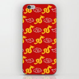 Chinese red gold 3 iPhone Skin