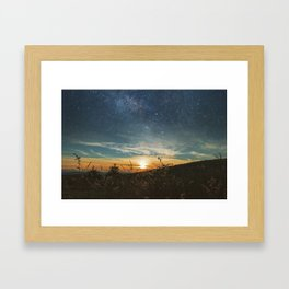 As the Sun fades away, the Stars come out to play Framed Art Print