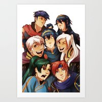 fire emblem Art Prints featuring Fire Emblem Crew by TiuanaRui