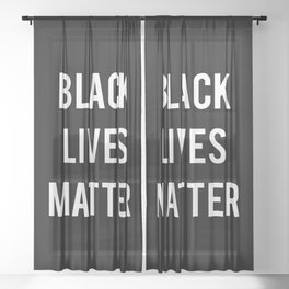 Black Lives Matter - Advocacy, Stop Racism Sheer Curtain