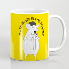 Pig singing Emilia   Animal Karaoke   Illustration Coffee Mug