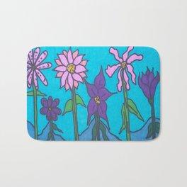 Blue Mountain Flowers Bath Mat