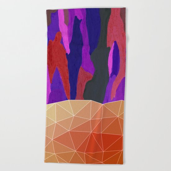 Abstract Colorful Pastel look Design Beach Towel