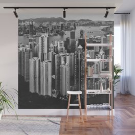 Hong Kong in Black & White Wall Mural