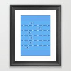 Olympic - Swim 2 Framed Art Print
