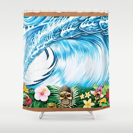 South Pacific Beast Shower Curtain