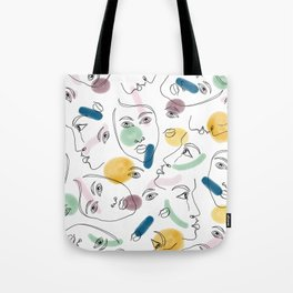 Female Portraits #society6 #figurative Tote Bag