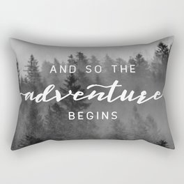 And So The Adventure Begins III Rectangular Pillow