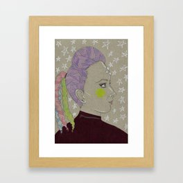 Jenna Marbles: Intergalactic Space Queen Framed Art Print