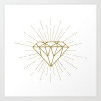 diamond Art Prints featuring Diamond by Hipster