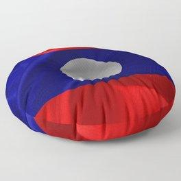 Laos Flag Floor Pillow