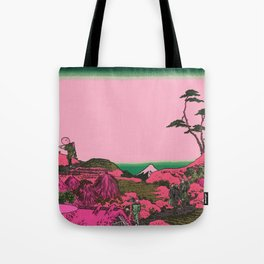 Hokusai in pink Tote Bag