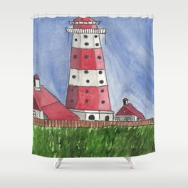 Coastal Tower Shower Curtain