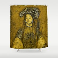 bride Shower Curtains featuring Manchurian Bride by Lucia