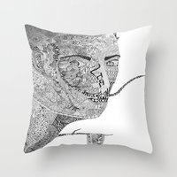 salvador dali Throw Pillows featuring Salvador Dali by Ina Spasova puzzle