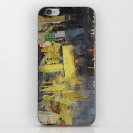 Black and yellow collage iPhone Skin
