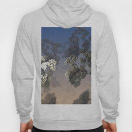 landscape bloom flower blossom sky fractal geometric illustration Hoody