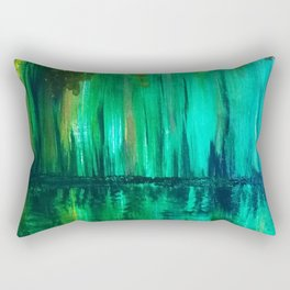 Green reflection Rectangular Pillow