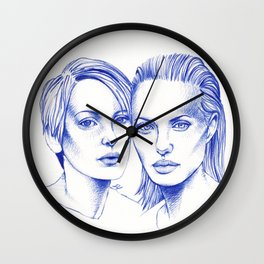 Girl interrupted Wall Clock