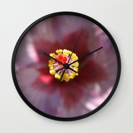 Hibiscus Tropical Flower Getting Lost In The Details Wall Clock
