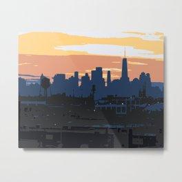 NYC Sunset Tones Metal Print