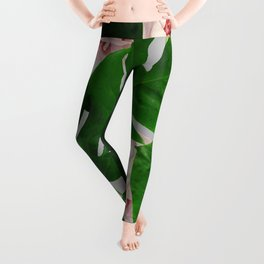 Monstera & Rose Pattern #society6 #decor #buyart Leggings
